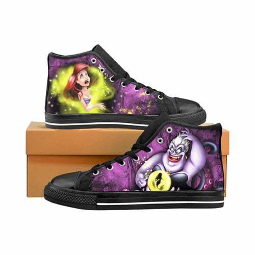 Villains Ursula & Ariel Men's Classic High Top Canvas Shoes