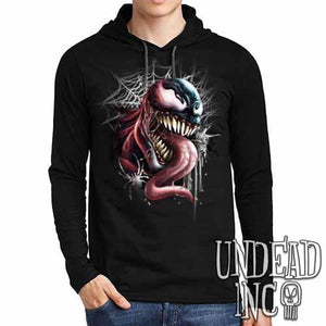 Venom - Mens Long Sleeve Hooded Shirt
