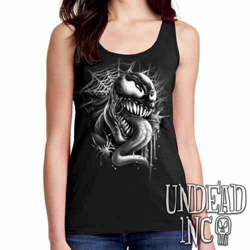 Venom - Ladies Singlet Tank Black Grey
