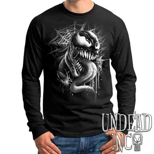 Venom Black & Grey - Mens Long Sleeve Tee
