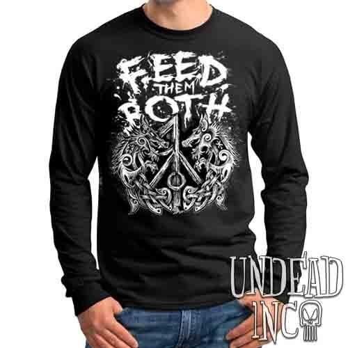 Feed Them Both Viking Wolves - Mens Long Sleeve Tee
