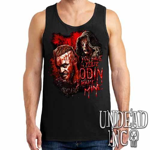 Vikings Ragnar & The Seer - Odin - Mens Tank Singlet