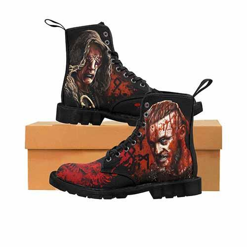 Vikings - Ragnar & The Seer Blood Eagle MENS Martin Boots