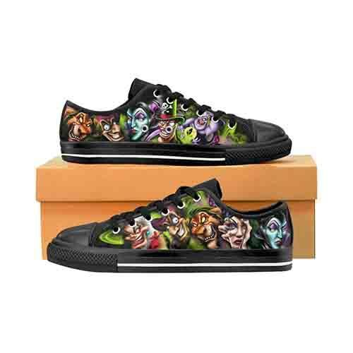 Villains A Whole Lot Of Evil MENS  Canvas Shoes