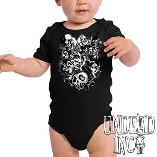 Disney Villains Born To Be Bad Black & Grey - Infant Onesie Romper