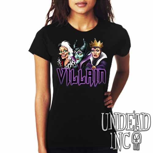 VILLAIN - Cruella Maleficent & Evil Queen - Ladies T Shirt