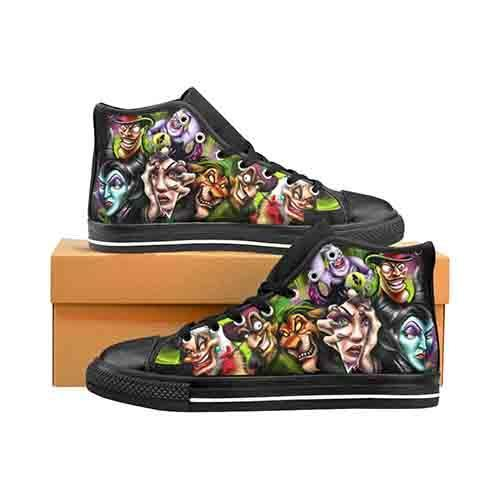 Villains A Whole Lot Of Evil Women's Classic High Top Canvas Shoes