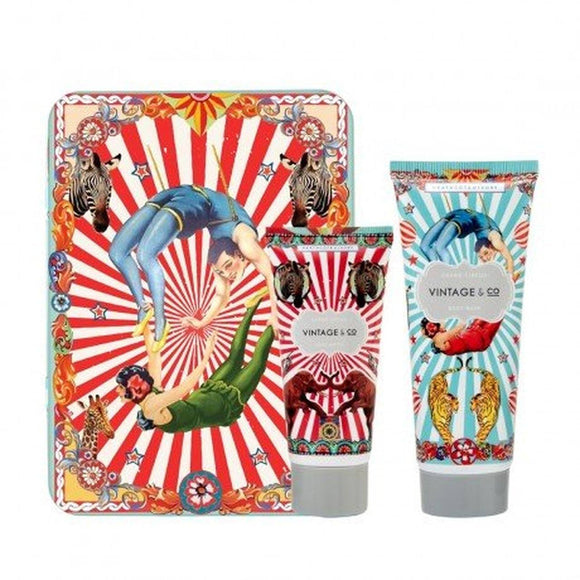 Vintage Circus Shower Gel & Body Cream in Embossed Circus Tin