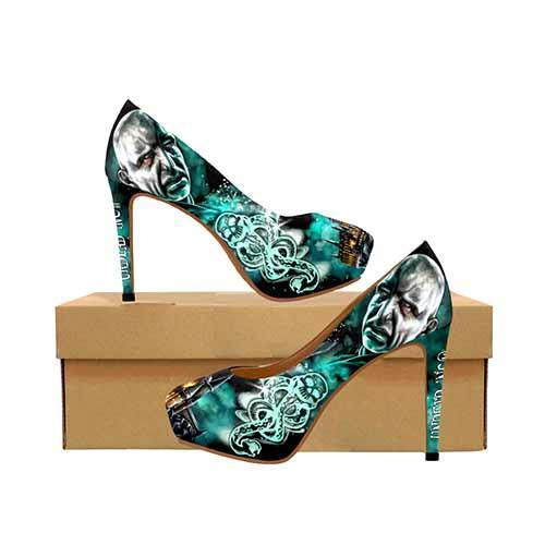 Harry Potter Voldemort Dark Mark Platform High Heels