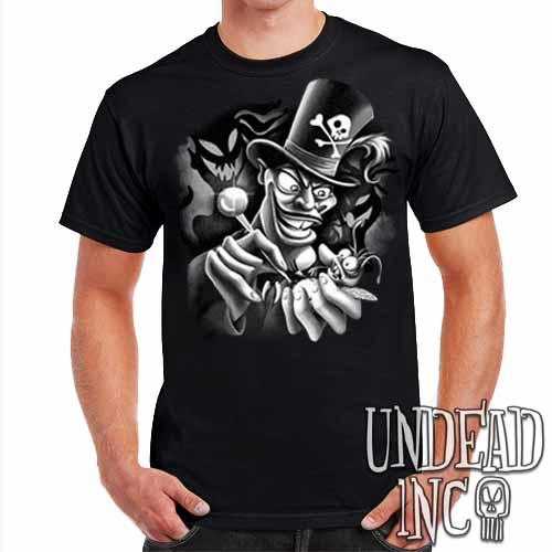 Villains Dr Facilier Voodoo Ray - Mens T Shirt Black Grey