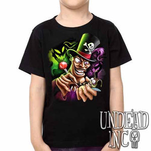 Villains Dr Facilier Voodoo Ray -  Kids Unisex Girls and Boys T shirt Clothing