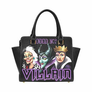 Undead Inc - Villains Maleficent Cruella Evil Queen Premium PU Leather Shoulder / Hand Bag