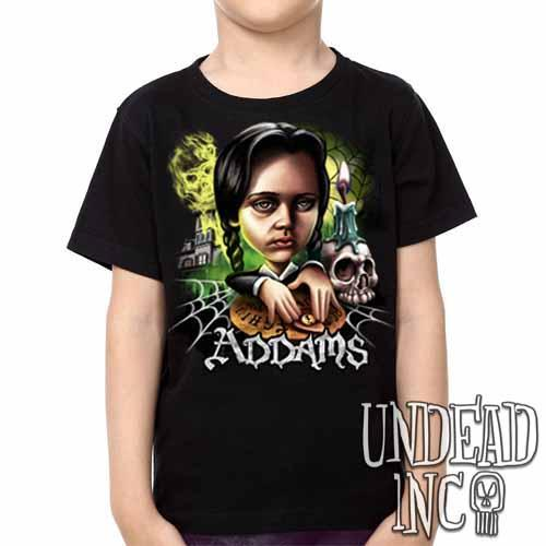 Addams Family Wednesday Ouija Board -  Kids Unisex Girls and Boys T shirt Clothing - Undead Inc Kids T-shirts,