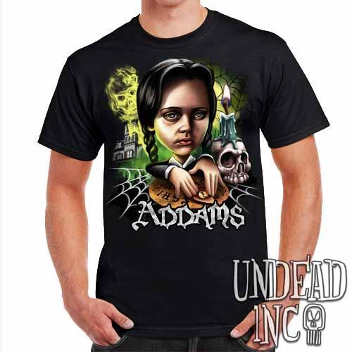 Addams Family Wednesday Ouija Board - Mens T Shirt - Undead Inc Mens T-shirts,