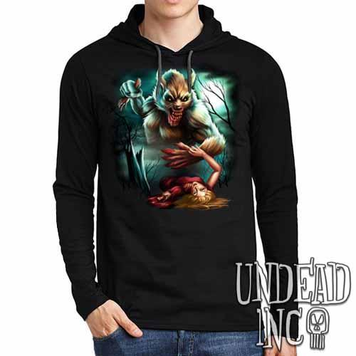 Werewolf Moonlight Murder - Mens Long Sleeve Hooded Shirt