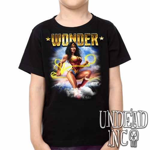 Wonder Woman -  Kids Unisex Girls and Boys T shirt Clothing