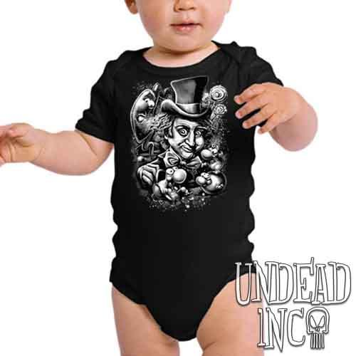 Willy Wonka & The NERDS Factory Black & Grey - Infant Onesie Romper