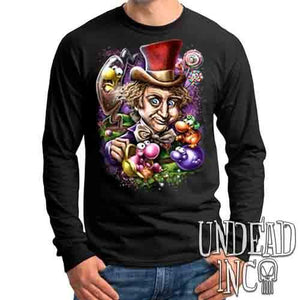 Willy Wonka & The NERDS Factory - Mens Long Sleeve Tee