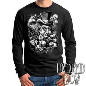 Willy Wonka & The NERDS Factory Black & Grey - Mens Long Sleeve Tee