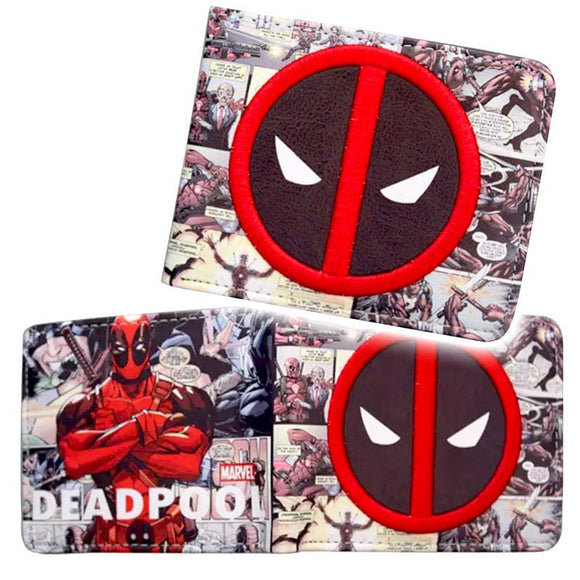 Deadpool Embroidery Logo Pu Leather Wallet