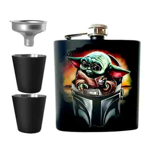 The Child - Baby Yoda Undead Inc Hip Flask Set