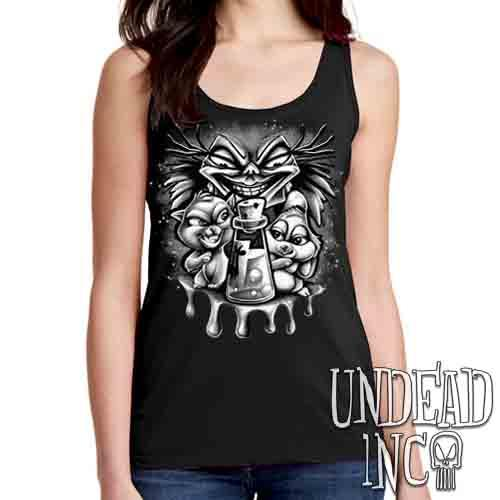 Yzma Essence Of Llama Black & Grey - Ladies Singlet Tank