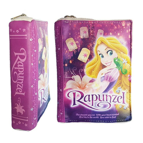 Disney Tangled Rapunzel Story Book Makeup Cosmetics Bag - Undead Inc Cosmetics Bag,