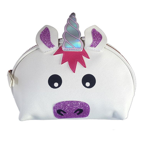Unicorn PU Leather Makeup Cosmetics Bag