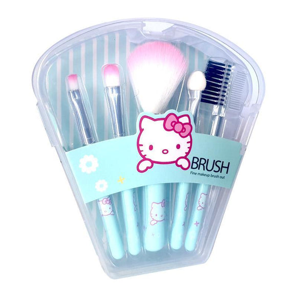 Hello Kitty Baby Blue 5 Piece Makeup Brush Set