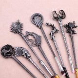 Game Of Thrones Ancient Silver Metal Makeup Brush Set