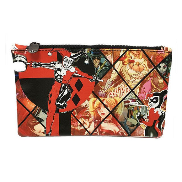 Harley Quinn Pu Leather Cosmetics Bag