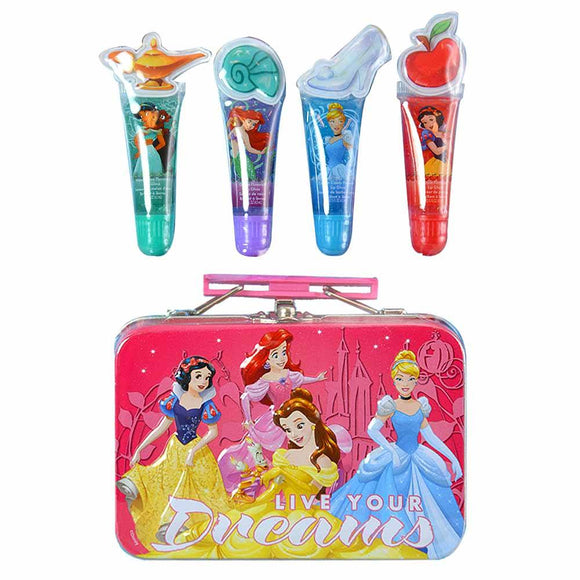 Disney Lip Gloss Tin Cosmetic Set - Undead Inc Lip Gloss,