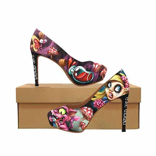 Alice In Wonderland Zombie Land Platform High Heels