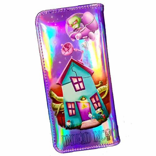 Invader Zim & Gir Space House Undead Inc Hologram Long Line Wallet Purse