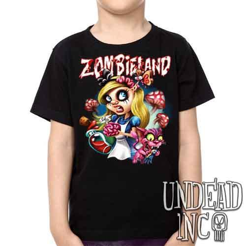 Alice in Zombieland - Kids Unisex Girls and Boys T shirt Clothing - Undead Inc Kids T-shirts,