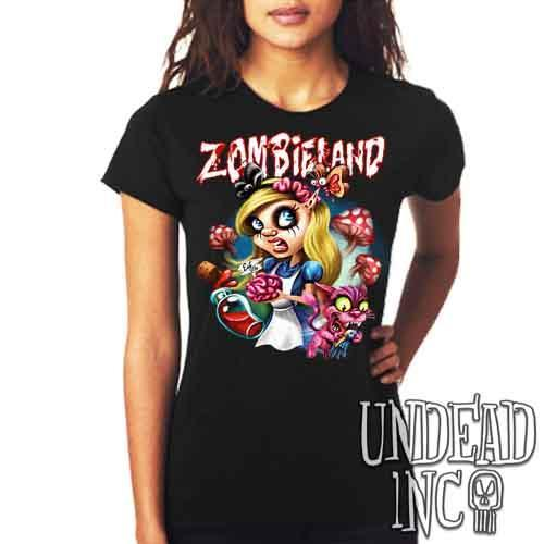 Alice in Zombieland  - Ladies T Shirt - Undead Inc Ladies T-shirts,
