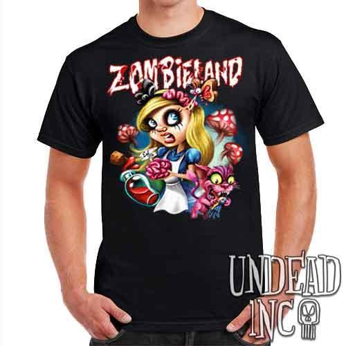 Alice in Zombieland - Mens T Shirt - Undead Inc Mens T-shirts,