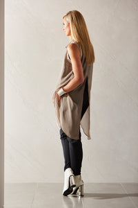 womens sleeveless chiffon shirt for layering allbases
