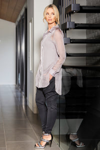 womens chiffon shirt for layering allbases