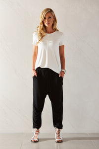Womens scoop hem tee allbases