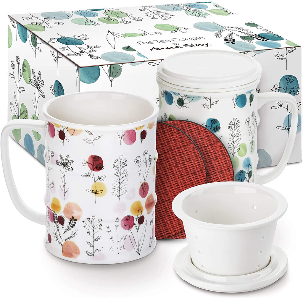 TEA INFUSER MUG (SET OF 2): COLOR BLOOM