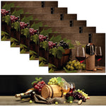 1 TABLE RUNNER + 6 PLACEMATS SET (WINE)
