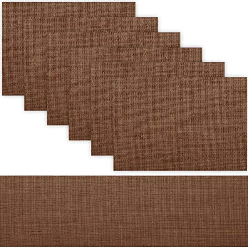 1 TABLE RUNNER + 6 PLACEMATS SET (BROWN)