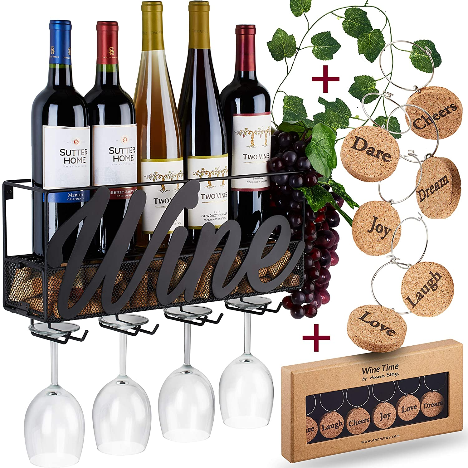 WALL MOUNTED WINE RACK: WINE LABEL