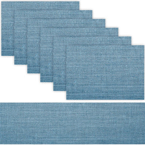 1 TABLE RUNNER + 6 PLACEMATS SET (BLUE SKY)
