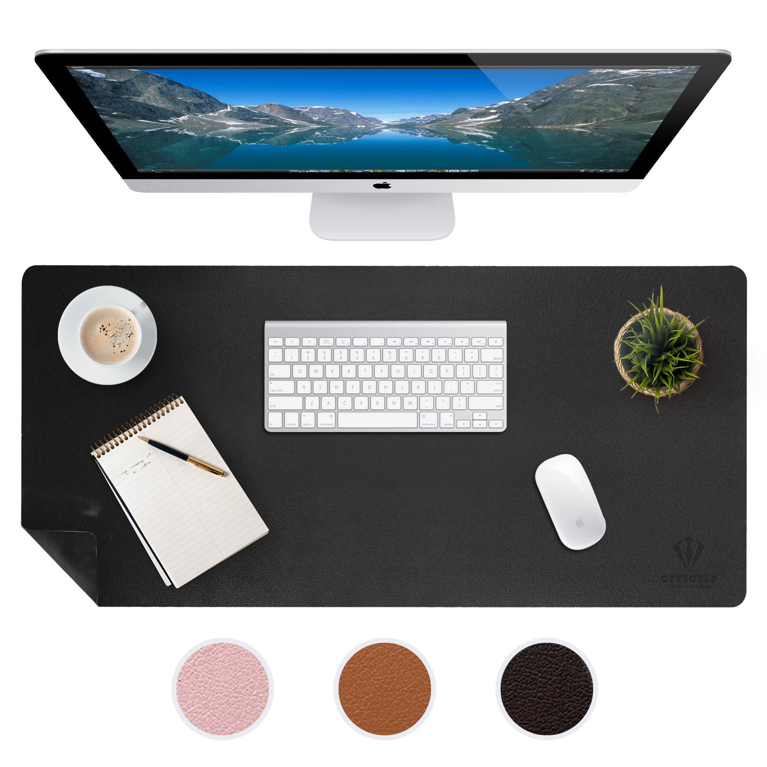 OFFICELY LEATHER DESK MAT (BLACK)