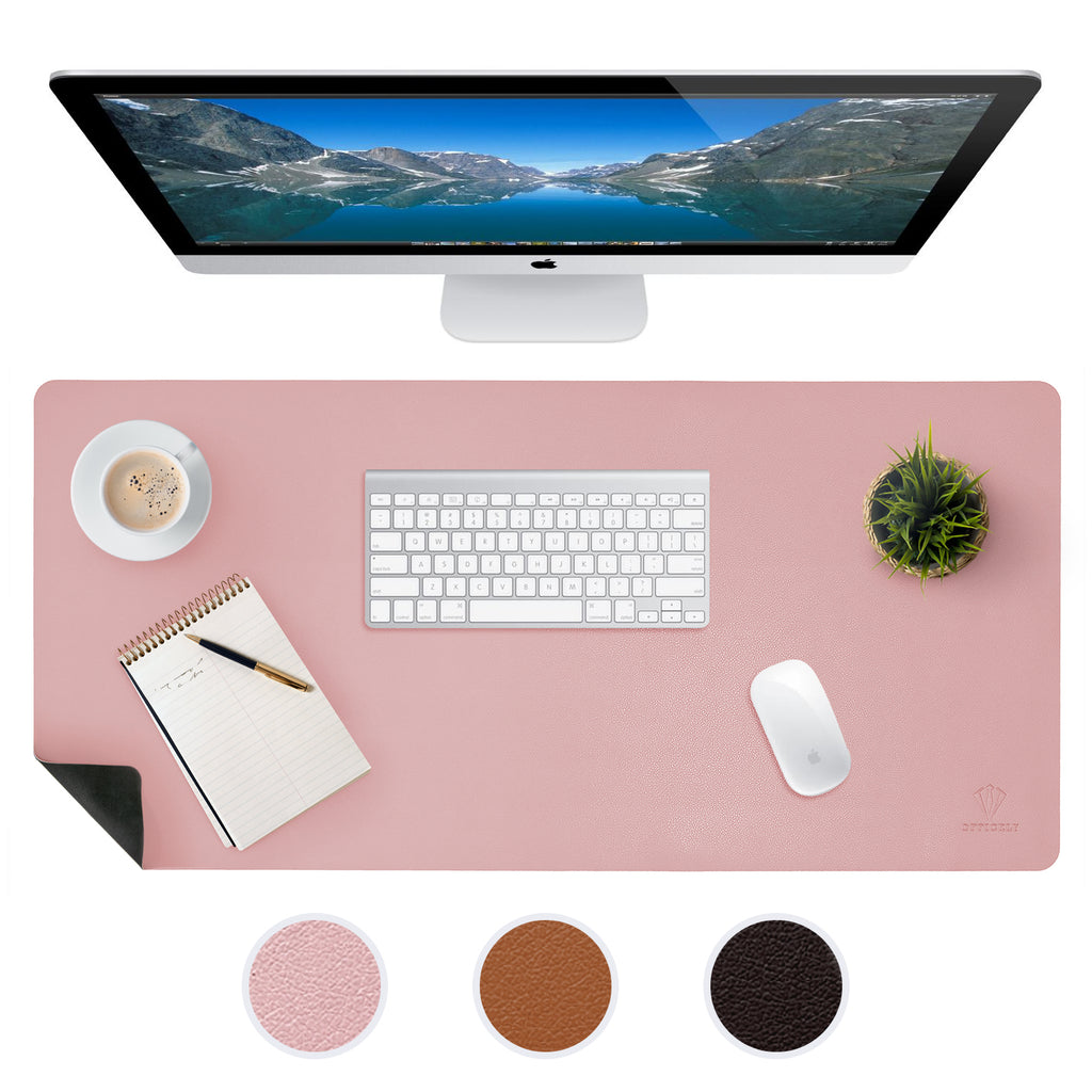 OFFICELY LEATHER DESK MAT (PINK)