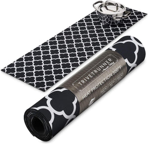 ANNA STAY | DECORATIVE TRIVET & KITCHEN TABLE RUNNERS | LONG | BLACK & WHITE
