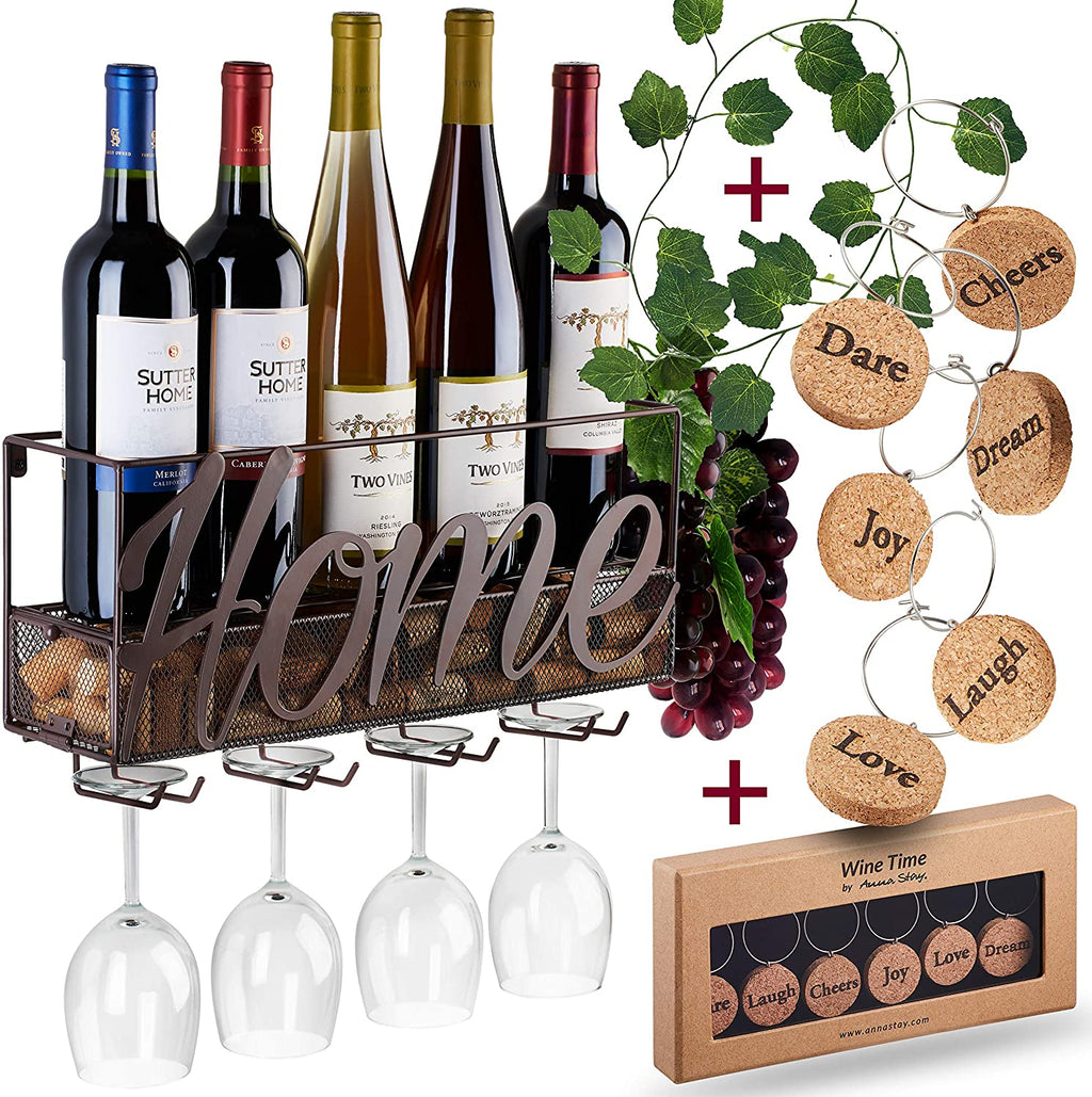WALL MOUNTED WINE RACK: HOME DÉCOR