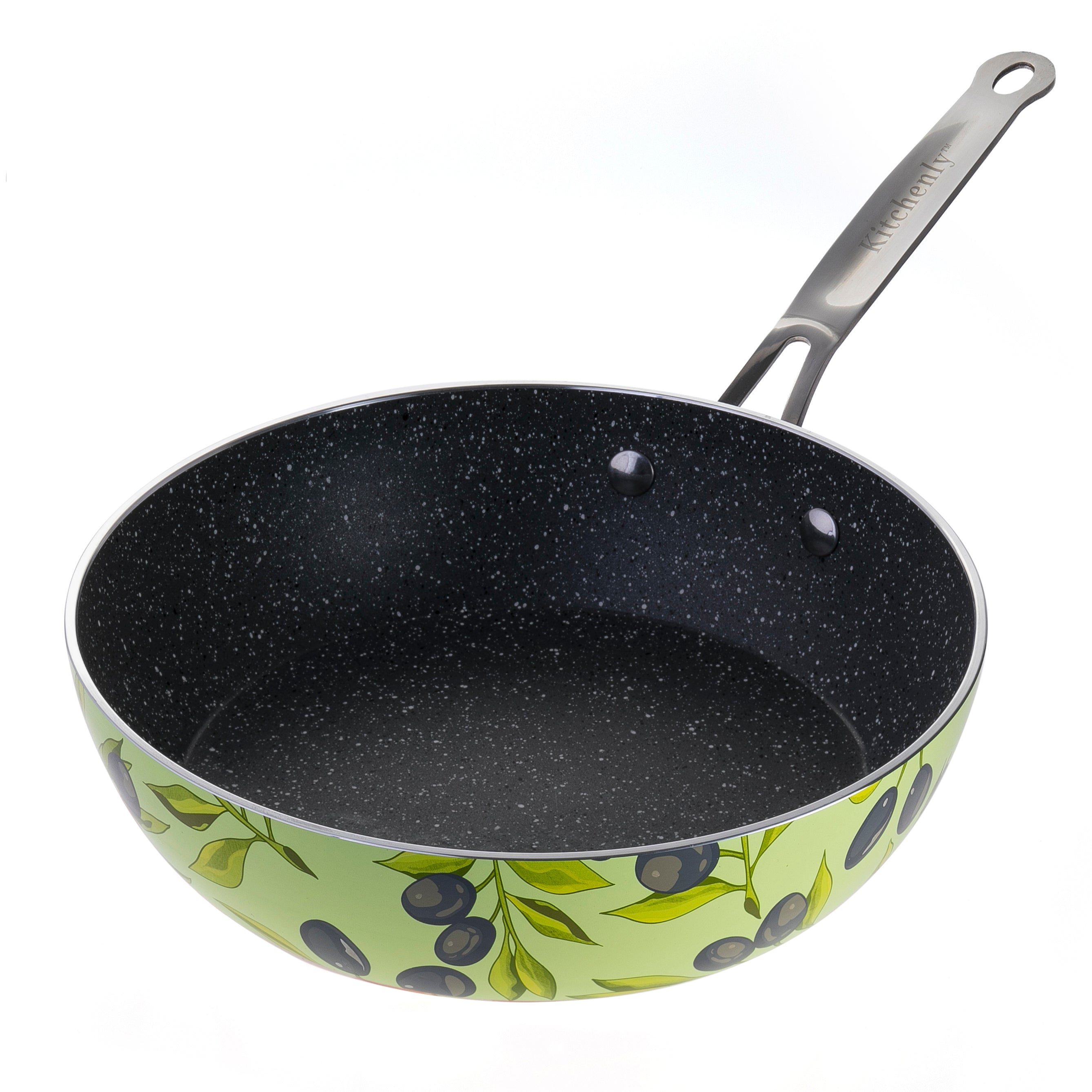 HAPPY FRYING PAN (GREEN OLIVES)